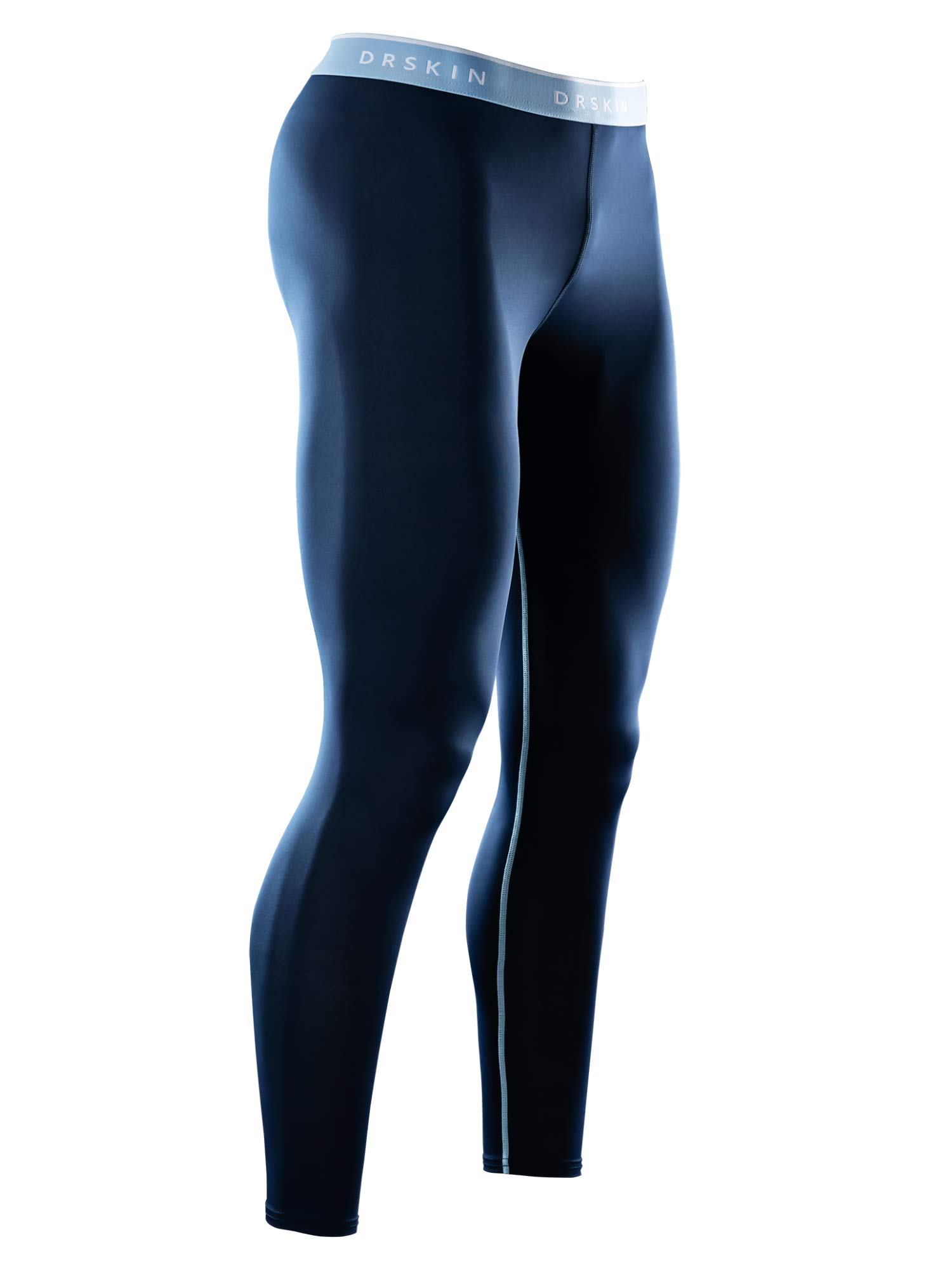 DRSKIN Compression Cool Dry Sports Tights Pants Baselayer Running Leggings Yoga Rashguard Men (Simple N02, XL) by DRSKIN