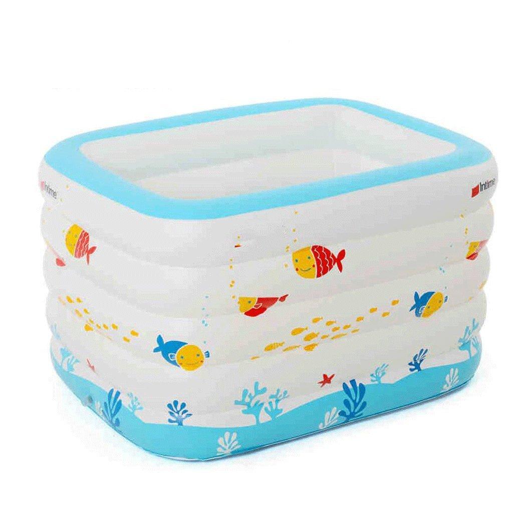 FHK,Klappbare Badewanne Große Baby-Schwimmbad Verdickte Familie aufblasbare Pool-Säugling Kinder baden Barrel Baby Schwimmbad Aufblasbare Badewanne, Badfaß