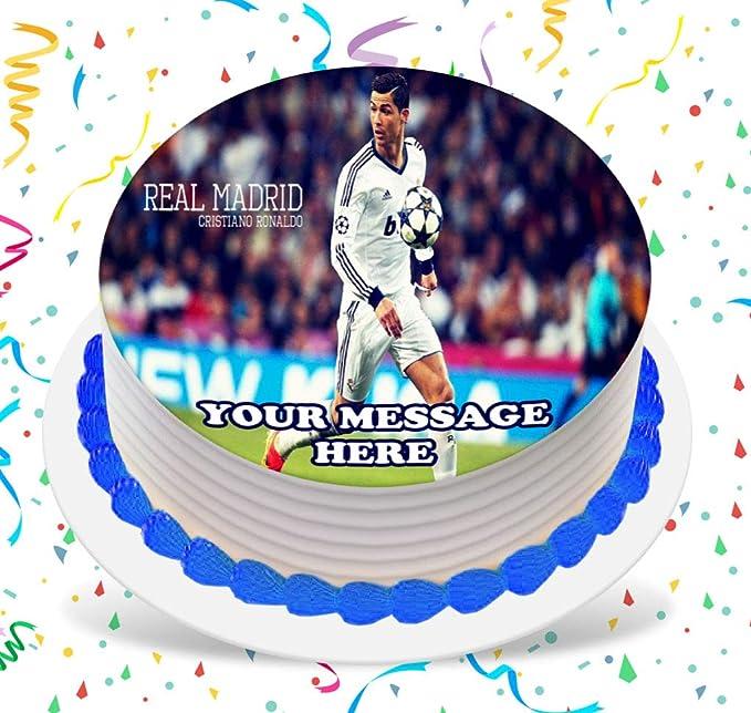 """Real Madrid Grandes 8/"""" Cake Topper Comestible Glaseado De Papel Cumpleaños Personalizado"""