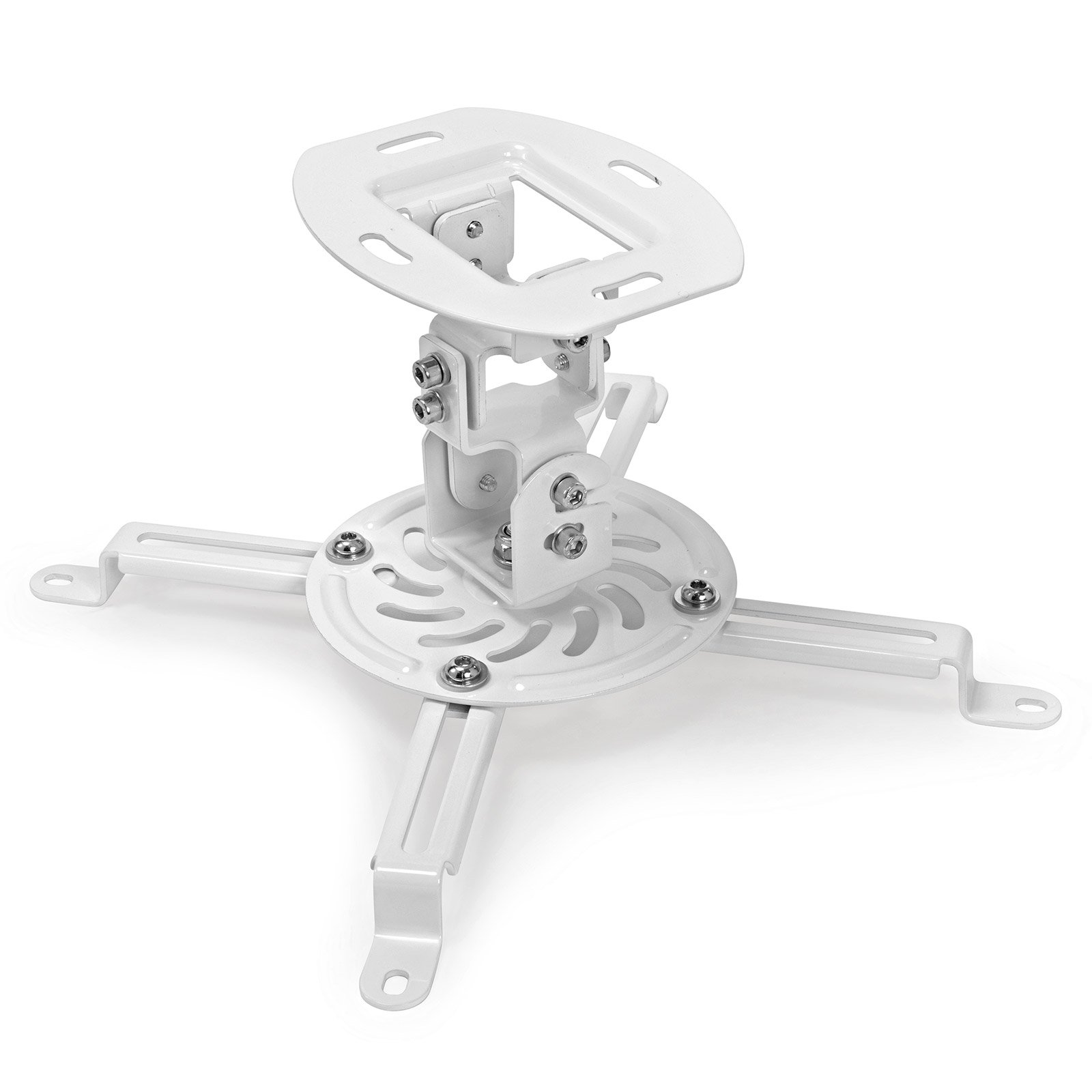 Mount Factory Universal Low Profile Ceiling Projector Mount - White