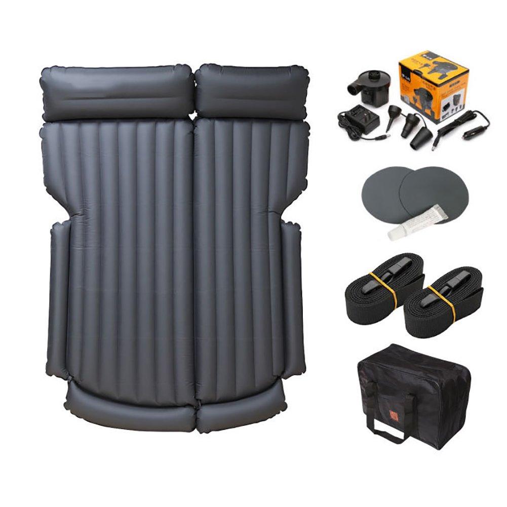 FJW Matratze aufblasbares Reise-Automobil Air Bed Kissen Reise Camping Auto Familie mit zwei Kissen Klimaanlage Pumpe Klimaanlage SUV Universal Sofa Luftmatratze ausgefahren