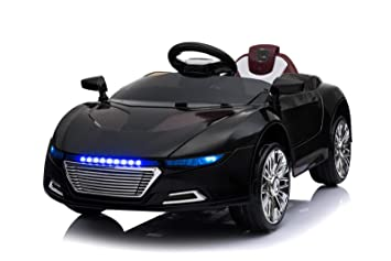 Batteriebetriebene Fahrzeuge Elektro Kinder Auto Elektrofahrzeug Sportwagen Akku Spyder Schwarz