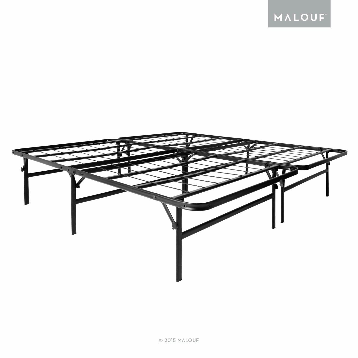 Amazon.com: MALOUF STRUCTURES HIGHRISE Foldable Bed Frame & Mattress ...