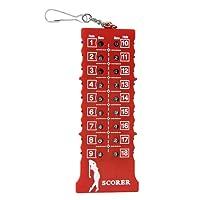 Homyl Golf 18 Löcher Stroke Counter Score Card Zähler Zählwerkzeug Rot