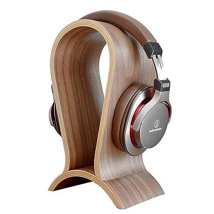 Versión Headset Stand ONEGenug Headphone Holder, Pantalla de Auriculares Titular de Auriculares Madera de Nogal