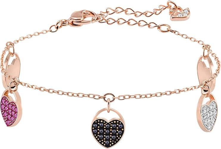 SWAROVSKI Crystal Rose Gold-Tone Ginger Heart Charm Bracelet