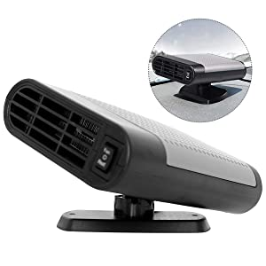 Car Heater Fan, Manfore 24V Auto Defroster Window Demister, Vehicle Heat Cooling Fan, Portable Car Defroster Defogger, Heating Quickly, Air Purify