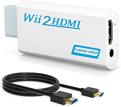 Wii to HDMI 1080p 720p Connector Output Video /& 3.5mm Audio with HDMI Cable Wii to HDMI Converter Wenter Wii to HDMI Adapter