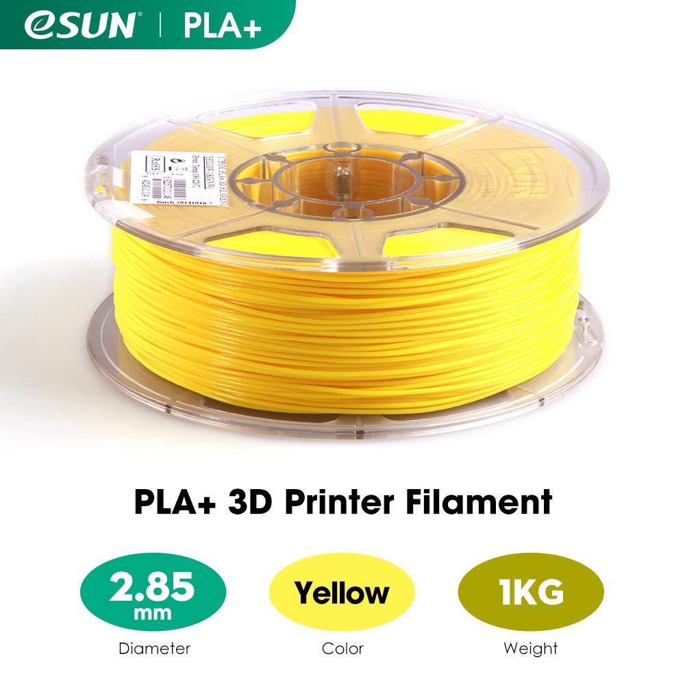 Amarillo 1KG Precisi/ón Dimensional +//- 0.03mm Filamento PLA+ 2.85mm 2.2 LBS de Carrete para la Impresora 3D eSUN PLA Plus Filamento de Impresora 3D