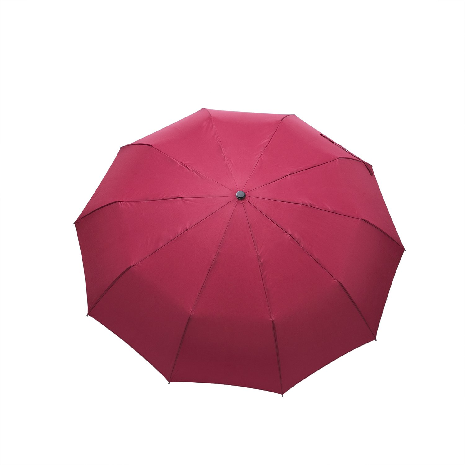 ROTERDON Windproof Travel Umbrella Folding - Small Compact Umbrella with Teflon Coating Auto Open/Close Reinforced Canopy Waterproof Pack for Luggage,Red by ROTERDON (Image #5)