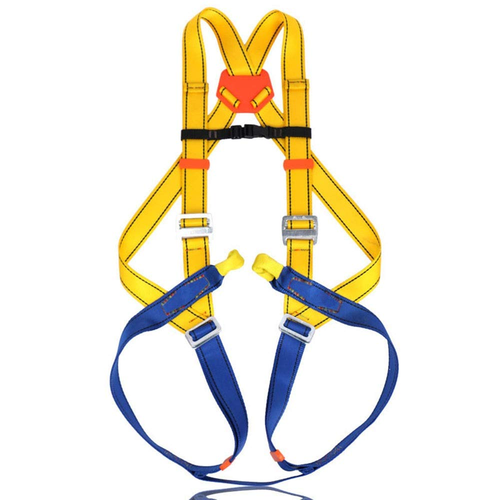 YIJUPIN フルボディハーネスクライミング用品、屋外での空中作業用下り坂 (色 : イエロー)  イエロー B07SNHNHHP