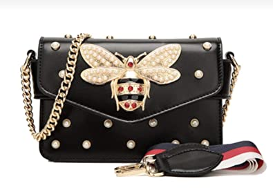 77cf51ba086 Women Messenger Bags Little bee Handbags crossbody bags Shoulder Bags  Designer Handbags with pearl  Handbags  Amazon.com