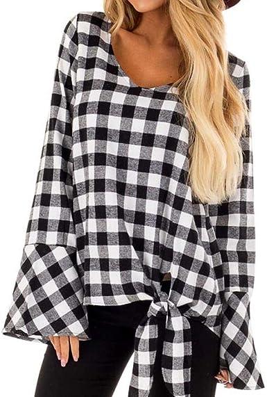 Blusa A Cuadros para A Ropa Festiva Camisa Mujer Cuadros Blusa A Cuadros Camisa para Mujer