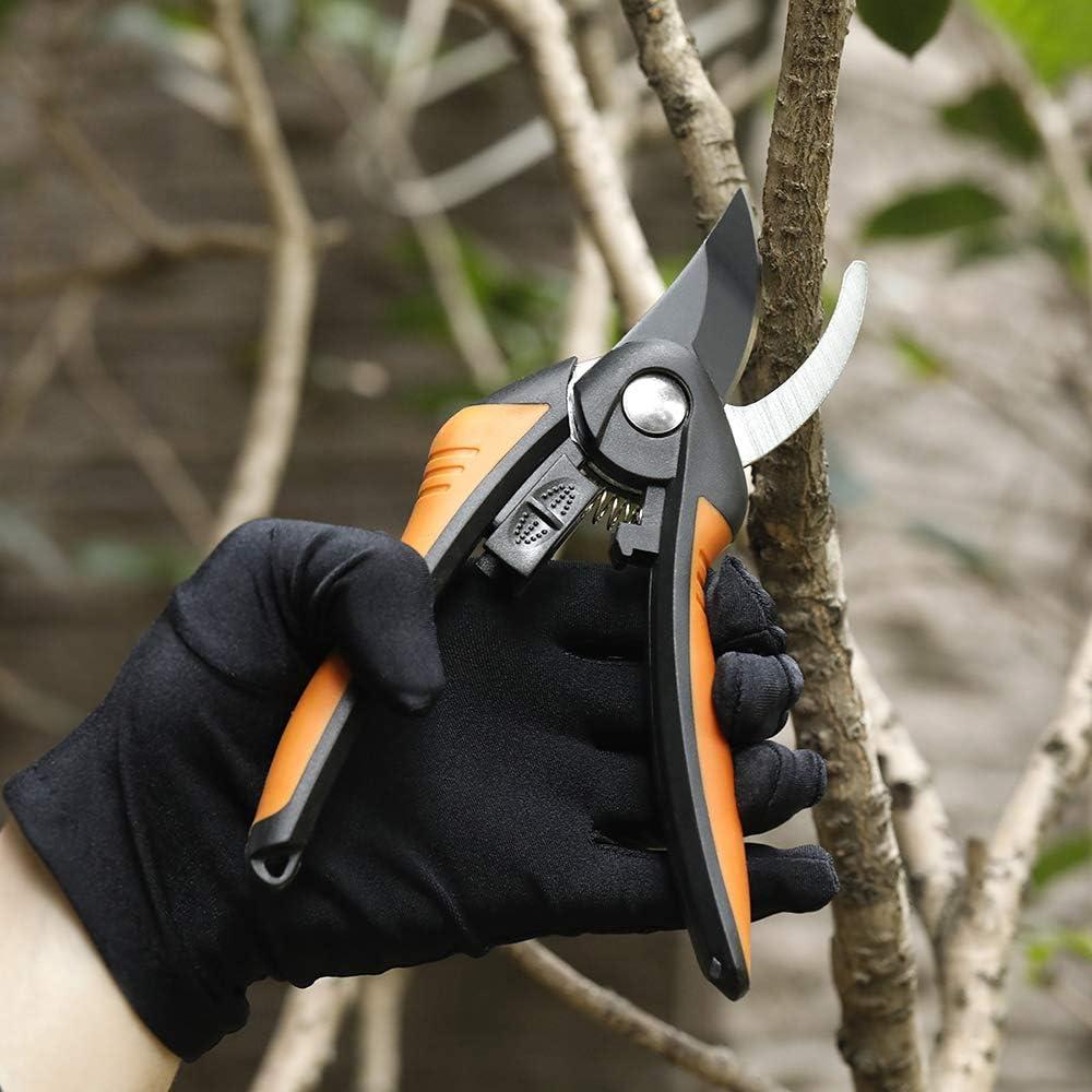 JSDing Tijeras de jard/ín Tijeras de podar Tijeras de podar de Acero Inoxidable Cortador de /árboles Tijeras de jard/ín para Trabajo Pesado Tijeras de /árboles