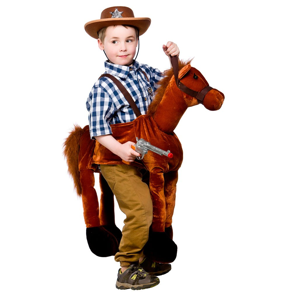 Amazon.com Ride On Horse Childrens Cowboy Fancy Dress Costume Boys Girls Horse Outfit 4-8 Toys u0026 Games  sc 1 st  Amazon.com & Amazon.com: Ride On Horse Childrens Cowboy Fancy Dress Costume Boys ...