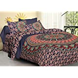 GANESHAM- Indian Mandala Hippie Queen Psychedelic Tapestry Doona Cover, Throw Blankets, Bedroom Quilt Throw, Mandala Bedding, Bedsheet, Indian Mandala KIng Size Duvet Cover Comforters Set, Bohemian