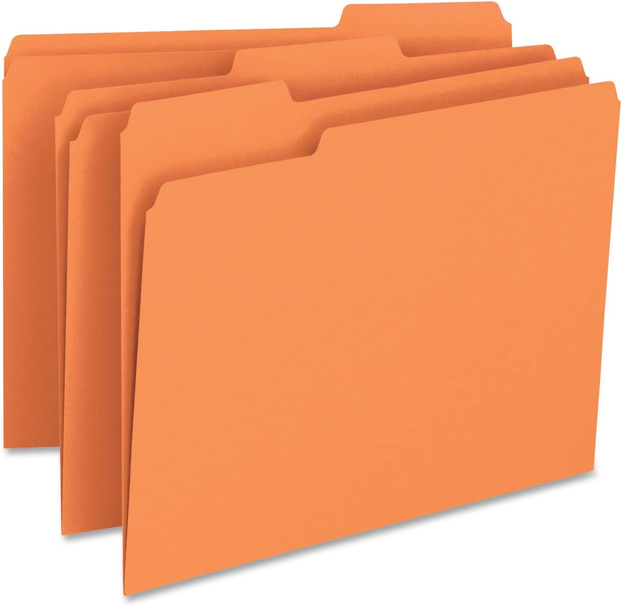 100 ct Smead 1//3 Cut Top Tab Hanging File Cabinet Folders Manila Letter Size