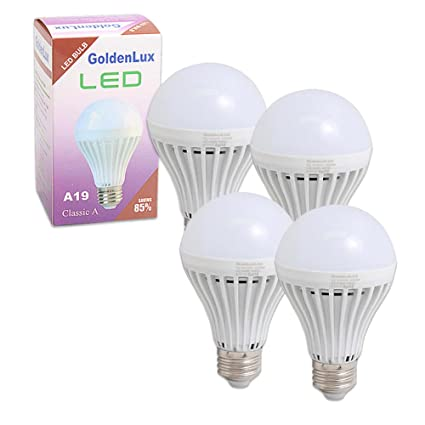 4 x Bombilla LED 7 W E26 120 V ahorro de energía cálida ...