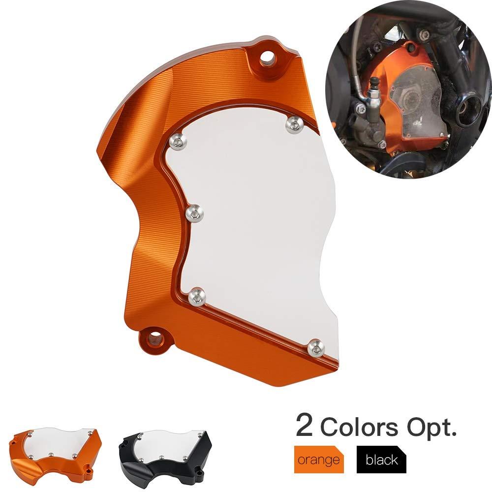 RONGLINGXING Engine Case Saver Front Sprocket Cover Chain Guard For KTM RC8 RC8R 1190 Adventure 1290 Super Duke T GT Super ADV R S 2008-2019 Color : Orange