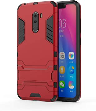 HUUH Funda Xiaomi Pocophone F1,Carcasa Xiaomi Pocophone F1 Stent Invisible TPU + PC combinación Aspecto,Ajuste Simple Elegante Generoso fuselaje(Rojo): Amazon.es: Electrónica