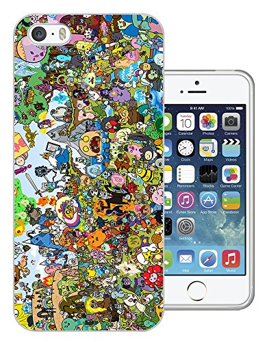 005 - Cool Fun Adventure Time Cartoon Design iphone SE - 2016 Fashion Trend Protecteur Coque Gel Rubber Silicone protection Case Coque