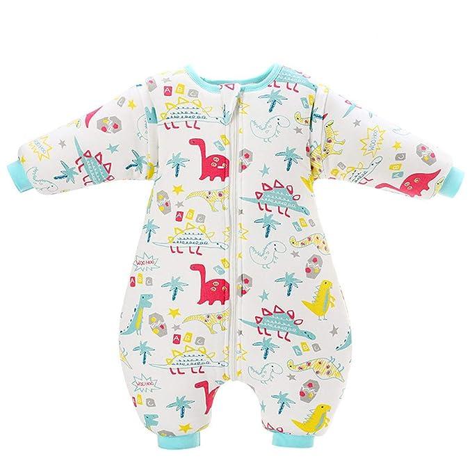 LUXIAO Moda de otoño e Invierno bebé Lindo Dividir Mangas Desmontables cálido Saco de Dormir niños cálidos y Transpirables Anti-Kick Tiene 0-2 años: ...