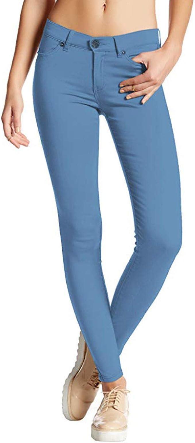 Pantalones Vaqueros Ajustados para Mujer Ocio Diario Color ...