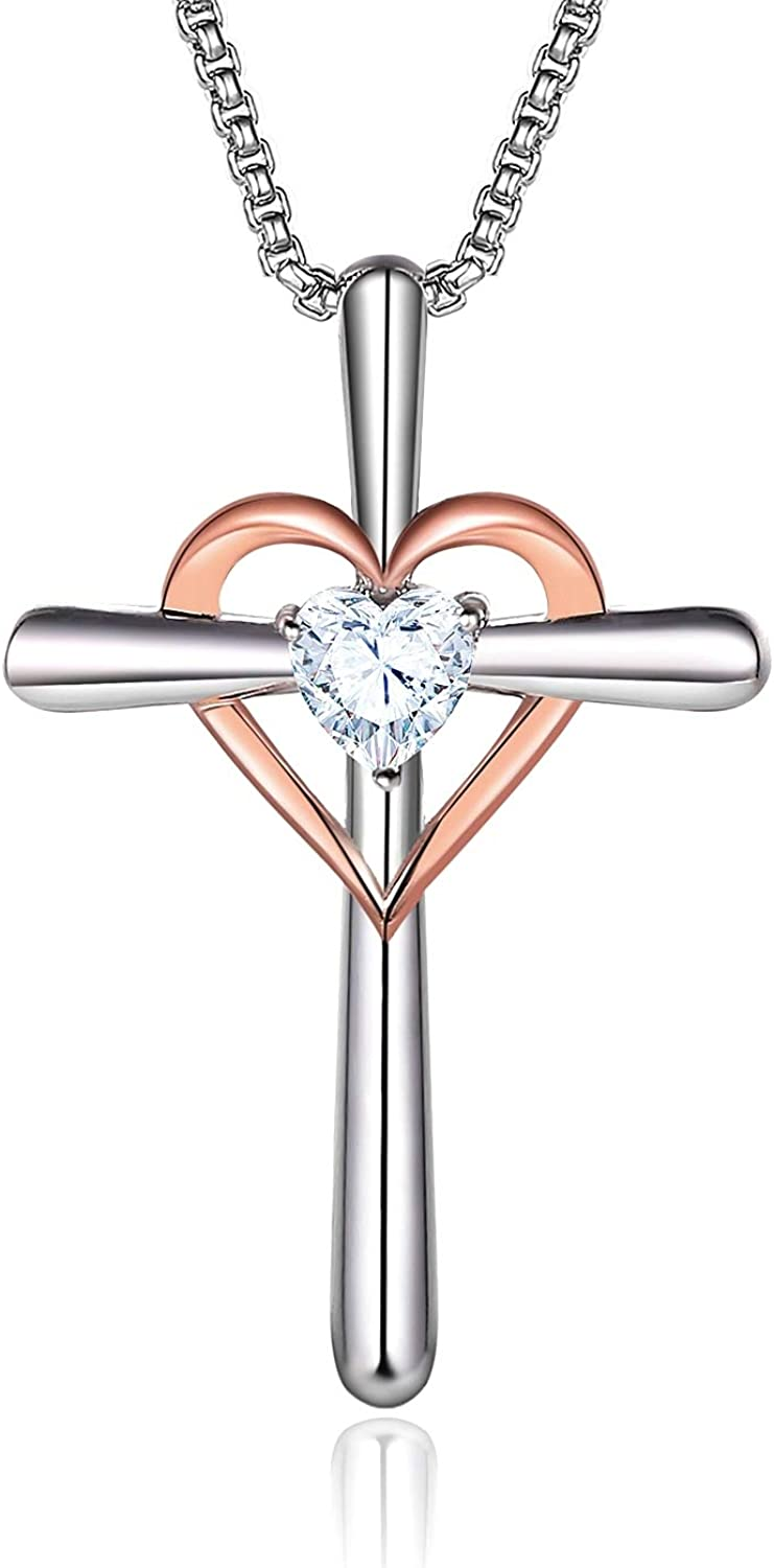 Contemporary Home Living 18 Silver Plated Mother of The Groom Cubic Zirconia Pendant Necklace