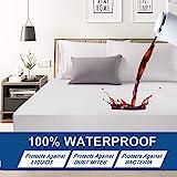 Premium Hypoallergenic Waterproof Mattress Protector - Deep Pocket - Hypoallergenic Vinyl Free (King(200X200X30CM))