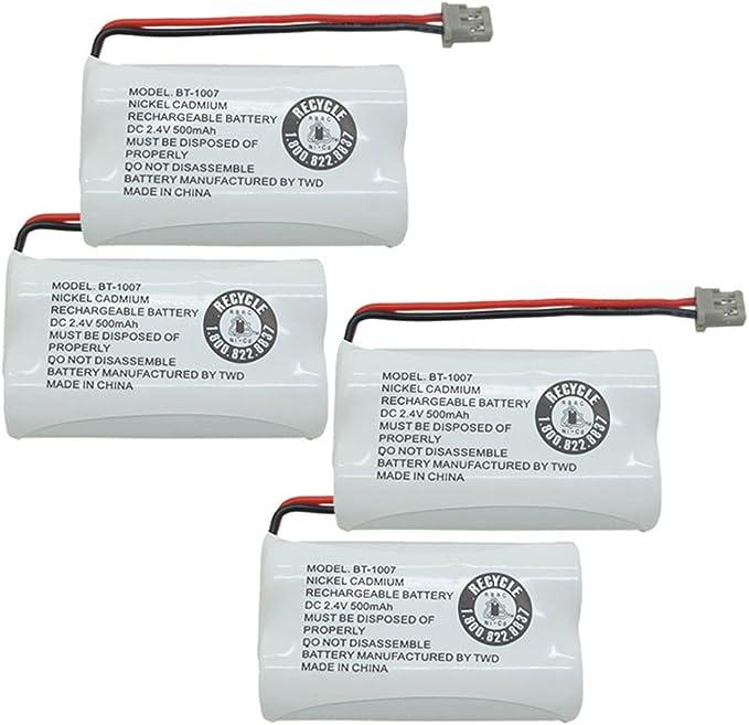 Batería de repuesto BT1007 para teléfono inalámbrico UNIDEN DECT 6.0 BT-1007 (4 unidades): Amazon.es: Electrónica