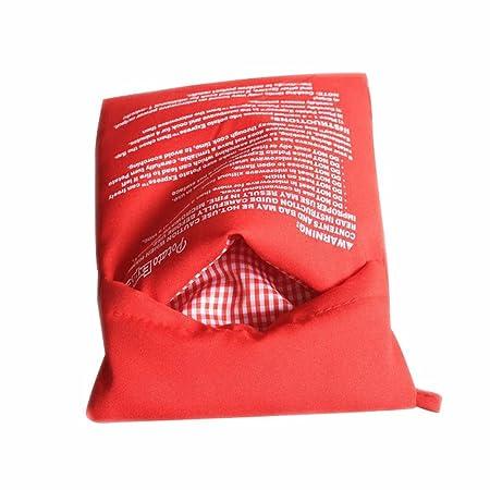 Bolsa para patatas de microondas roja para horno, de vapor ...