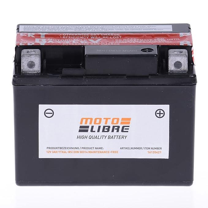 Battery 12 V 3 Ah YTX4L BS Maintenance Free Motolibre 50314