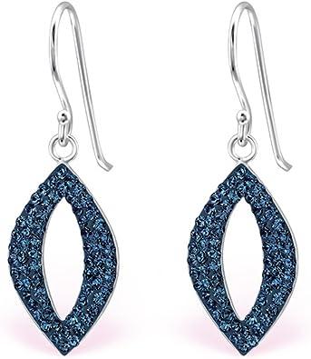 Marquise Dangle Sterling Silver Earrings