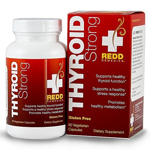 Redd Remedies Thyroid Strong - Thyroid Support Supplement - Promotes Healthy Metabolism - Reduces Chance Of Hypothyroidism by Redd Remedies by Redd Remedies