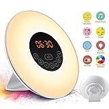 SOLMORE Alarm Clock Wake Up Light 6 Natural Sounds 7 Colors 10 Adjustable Brightness UK Plug