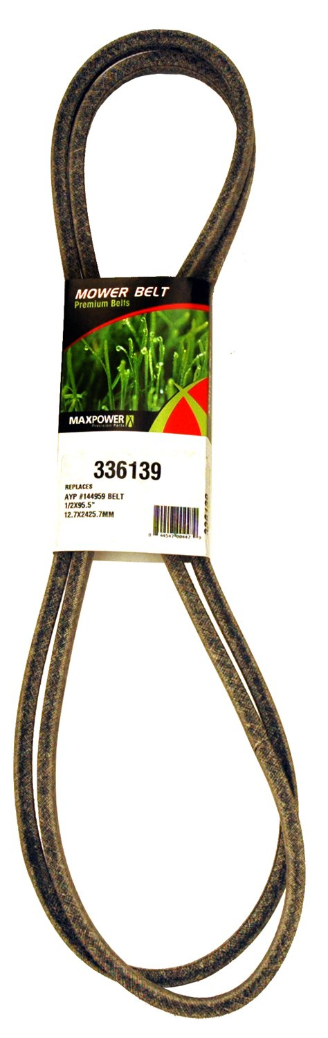 Maxpower 336139 Secondary Belt Replaces Poulan/Husqvarna/Craftsman 144959, 532144959, PP12012, 531307218 by Maxpower