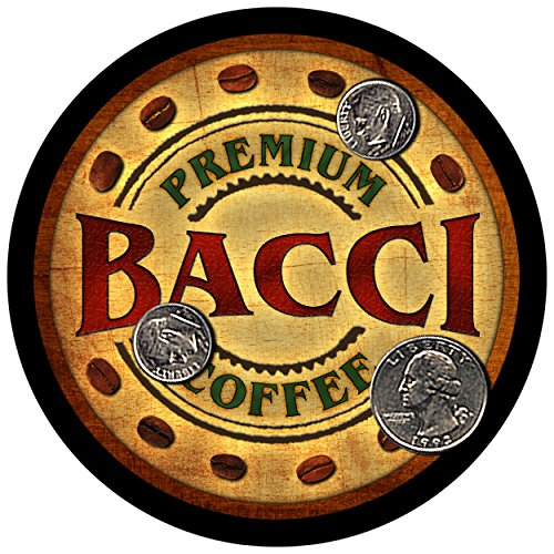 Bacci Family Coffee Rubber Drink Coasters - Set of 4