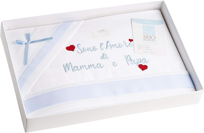 Mio petit drap berceau landau b/éb/é nouveau-n/é 100 /% coton fabriqu/é en Italie artisanaux emballage cadeau pour b/éb/é maman fille drap rose