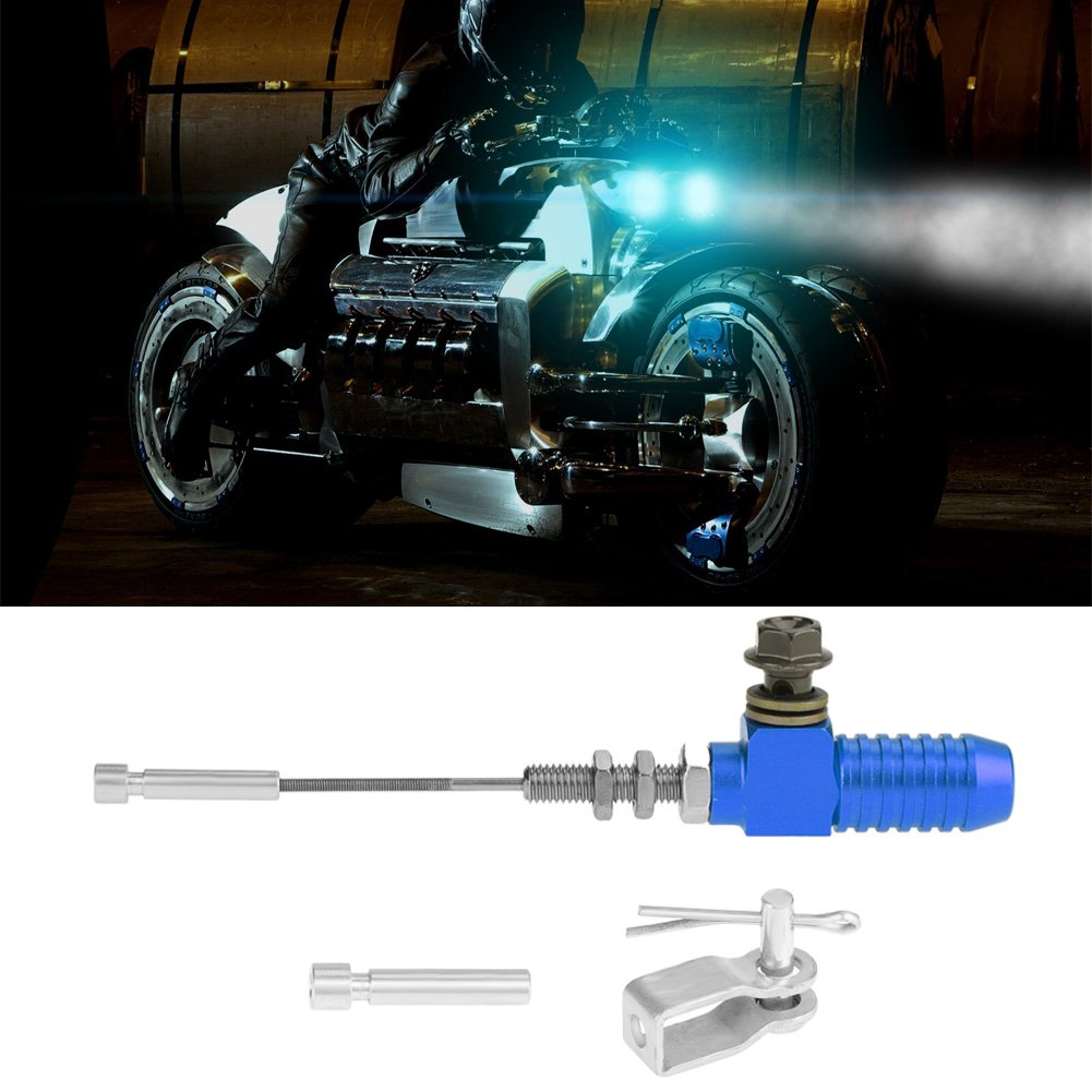 Qiilu M10x1.25mm Universal Moto Hydraulique Embrayage Ma/ître Cylindre Rod Frein Pompe Pour dirt bike Pit Bike ATV Quad scooter moto Noir