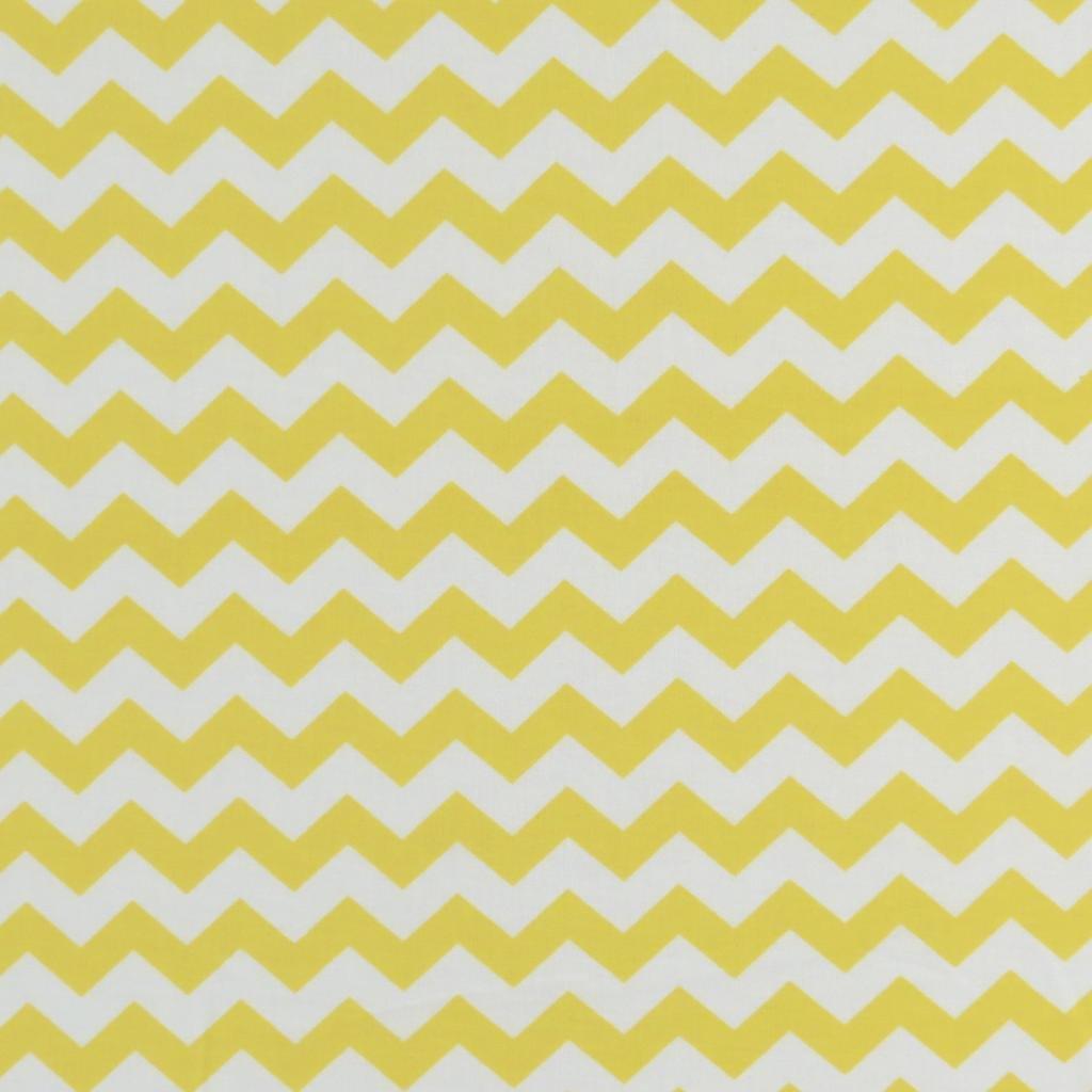 SheetWorld Fitted Portable / Mini Crib Sheet - Yellow Chevron Zigzag - Made In USA