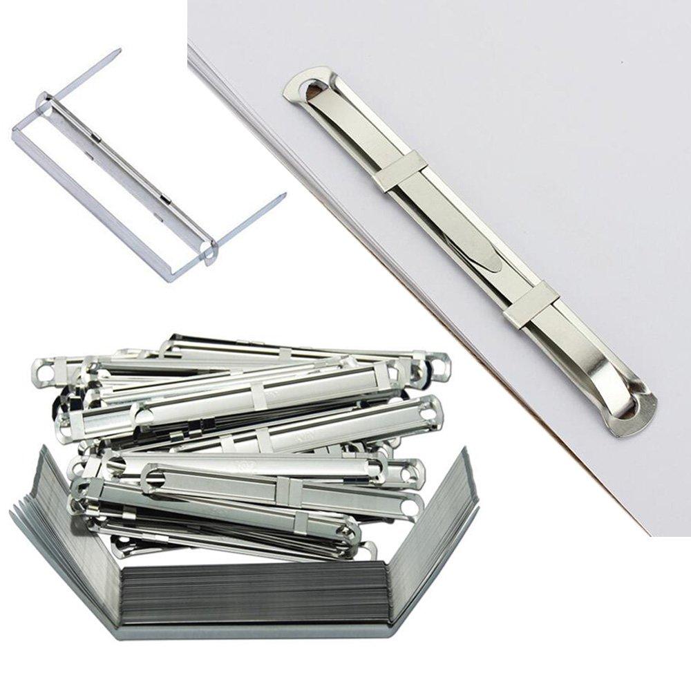 Edgeam, graffette metalliche da ufficio, clip fermafogli per documenti di carta, 50 Sets
