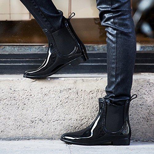 Ideal Shoes - Chaussure femme Bottine de pluie SHERRY Noir IG9PTmya4