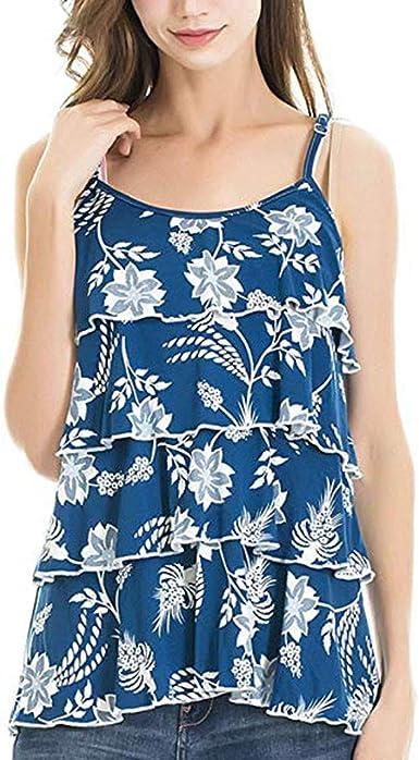 Vectry Camisetas Premama Camiseta Mujer Manga Corta Blusas De Mujer Elegantes De Fiesta Camisa Casual Mujer Camisa Premama Blanca 2019 Nuevo Camisetas Premama Azul: Amazon.es: Ropa y accesorios