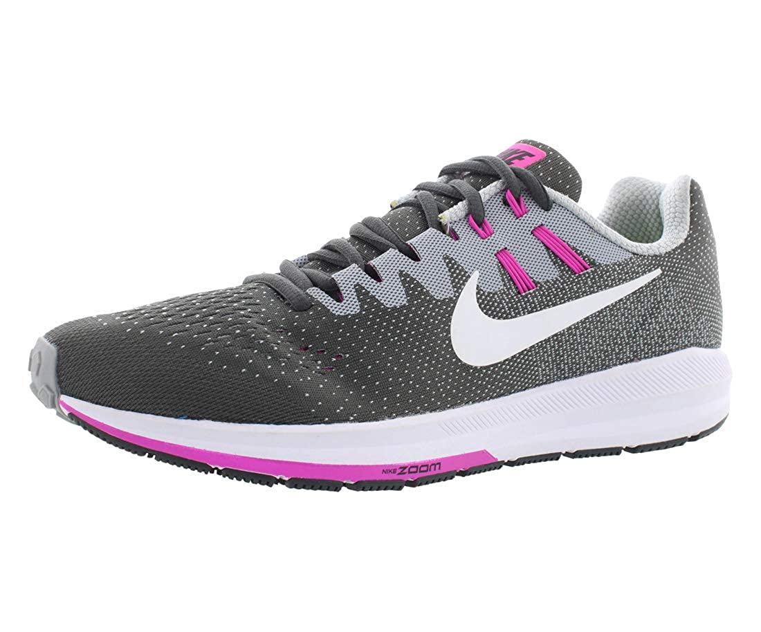 size 40 1ad9b 7b9b6 NIKE Women's WMNS Air Zoom Structure 20, Anthracite/White-Wolf Grey-FIRE  Pink, 12 M US