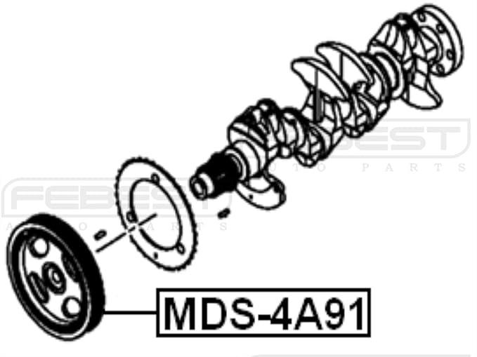 Amazon Com Febest Mds 4a91 Engine Crankshaft Pulley Automotive