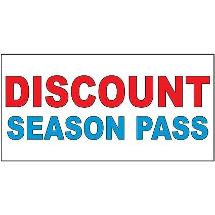 Amazon Com Discount Season Pass Red Blue Decal Sticker Retail