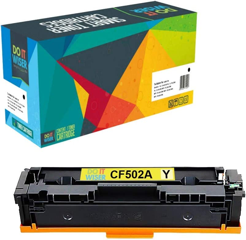 Do it Wiser Compatible Toner Cartridge Replacement for HP 202A CF502A for use in HP Laserjet Pro M281fdw M281cdw M254dw M254nw M254 M280 M281 (Yellow)