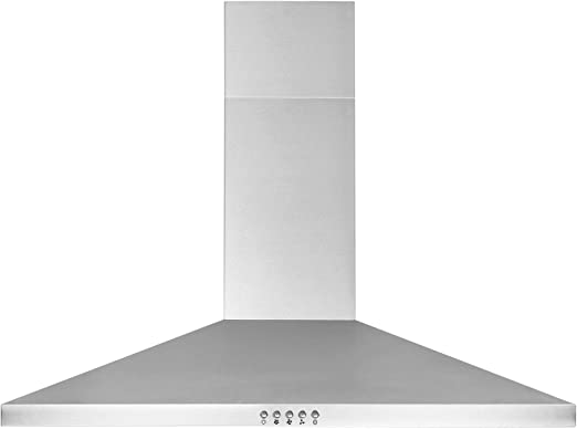 30 Inch Wall Mount Range Hood In Stainless Steel Ducted Ductless Chimney Style Kitchen Vent 450 Cfm 3 Speed Exhaust Fan Push Button Led Lights Mesh Filters Fit 8 To 8 5 Ft Ceiling