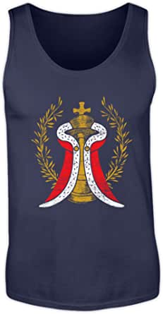 Shirtee - Ajedrez para Hombre, diseño de Rey con Capa
