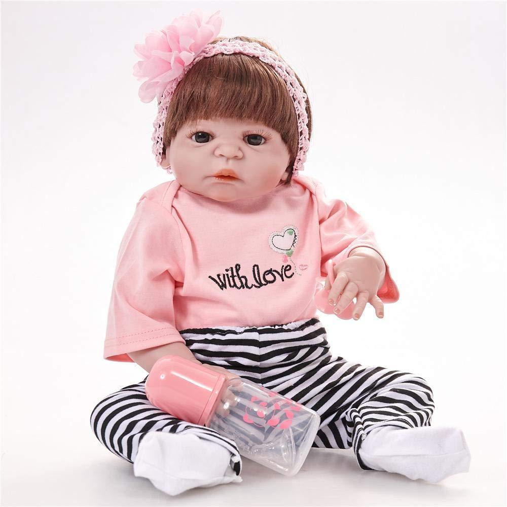 Hongge Reborn Bambola,Silicone Vinile rigenerato Regalo di Compleanno di Bambini Bambino Bambola realistica Ragazza Bambino Bambola realistica Principessa Bambini Giocattoli 55cm